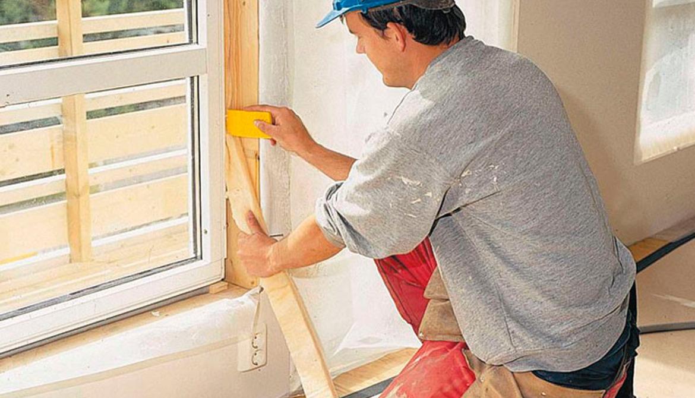 Установка окон в доме из газобетона или пеноблоков